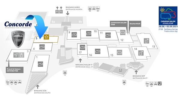 Plan salon de Düsseldorf 2021